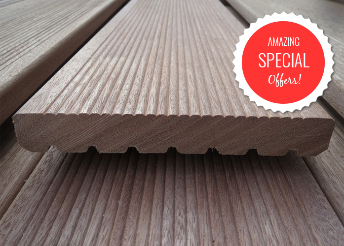 Hardwood decking exmouth for Decking special offers